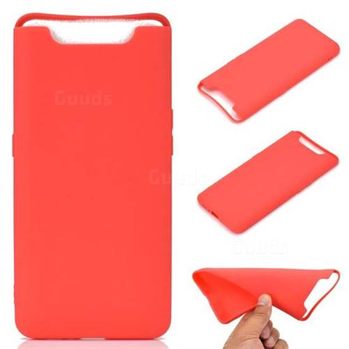 Candy Soft TPU Back Cover for Samsung Galaxy A80 A90 - Red