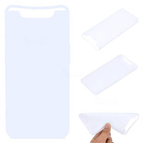 Candy Soft TPU Back Cover for Samsung Galaxy A80 A90 - White