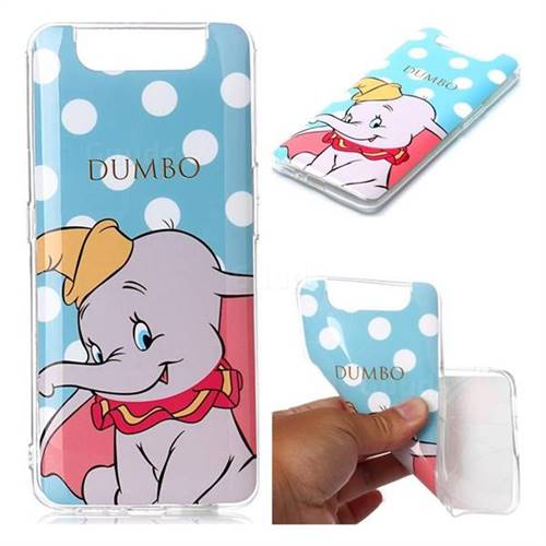 Dumbo Elephant Soft TPU Cell Phone Back Cover for Samsung Galaxy A80 A90