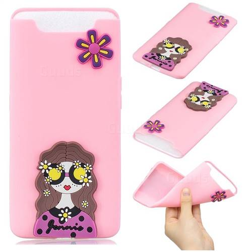 Violet Girl Soft 3D Silicone Case for Samsung Galaxy A80 A90