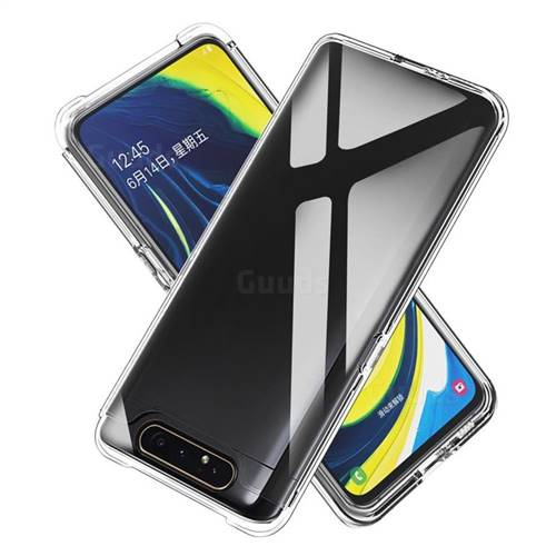 Transparent 2 in 1 Drop-proof Cell Phone Back Cover for Samsung Galaxy A80 A90
