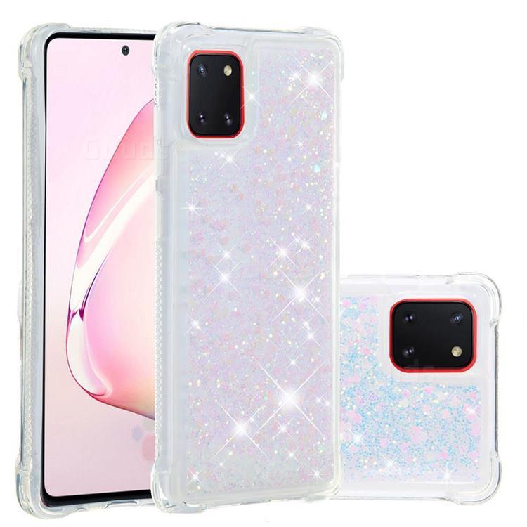 Dynamic Liquid Glitter Sand Quicksand Star TPU Case for Samsung Galaxy A81 - Pink
