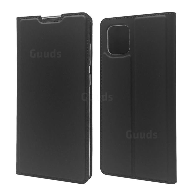 Ultra Slim Card Magnetic Automatic Suction Leather Wallet Case for Samsung Galaxy A81 - Star Grey