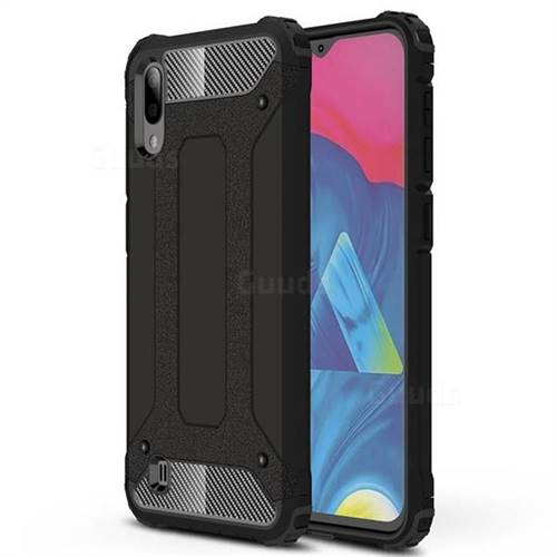 King Kong Armor Premium Shockproof Dual Layer Rugged Hard Cover for Samsung Galaxy M10 - Black Gold