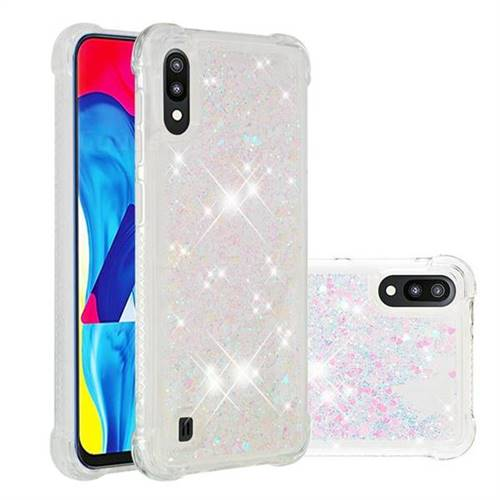 Dynamic Liquid Glitter Sand Quicksand Star TPU Case for Samsung Galaxy M10 - Pink