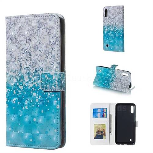 Sea Sand 3D Painted Leather Phone Wallet Case for Samsung Galaxy M10