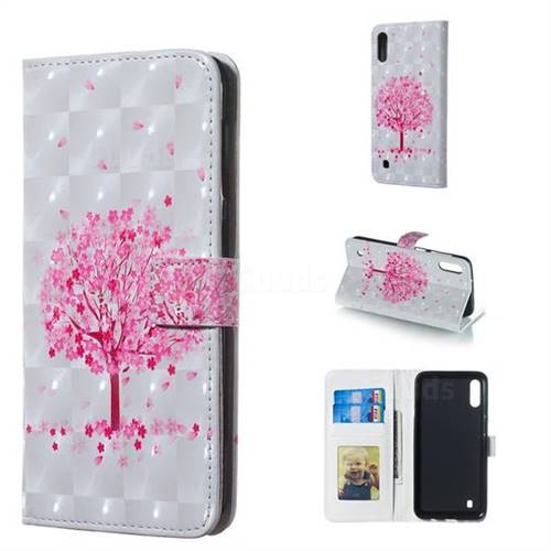Sakura Flower Tree 3D Painted Leather Phone Wallet Case for Samsung Galaxy M10