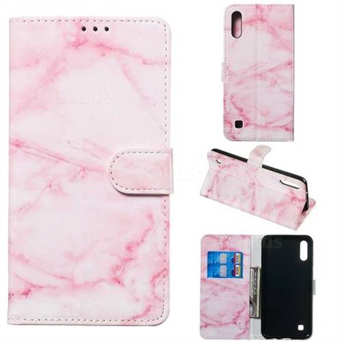 Pink Marble PU Leather Wallet Case for Samsung Galaxy M10