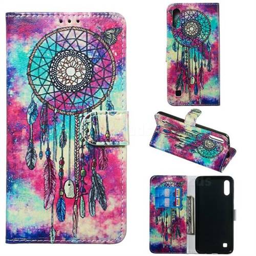 Butterfly Chimes PU Leather Wallet Case for Samsung Galaxy M10