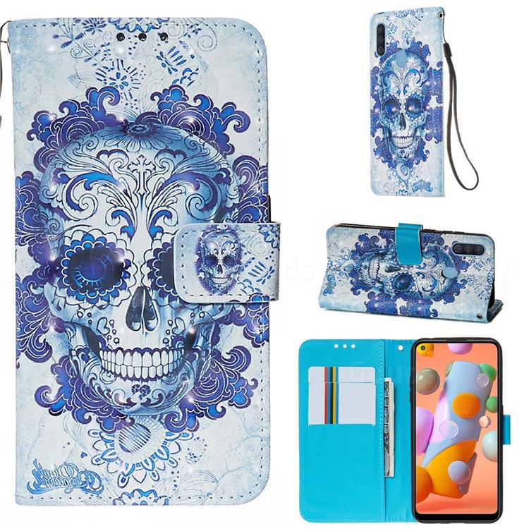 Cloud Kito 3D Painted Leather Wallet Case for Samsung Galaxy M11