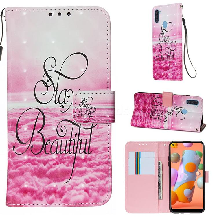 Beautiful 3D Painted Leather Wallet Case for Samsung Galaxy M11