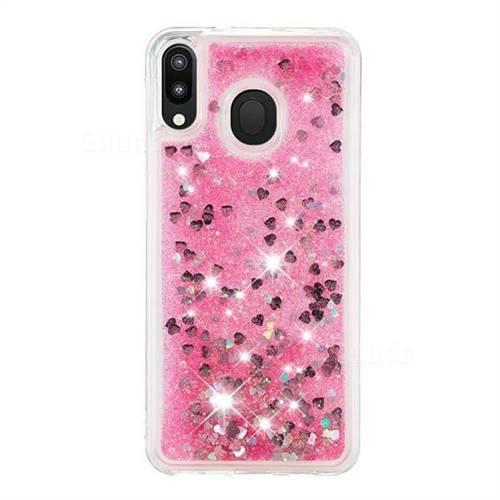 the best attitude 5b7b4 96c85 Dynamic Liquid Glitter Quicksand Sequins TPU Phone Case for Samsung Galaxy  M20 - Rose