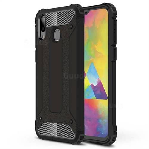 King Kong Armor Premium Shockproof Dual Layer Rugged Hard Cover for Samsung Galaxy M20 - Black Gold