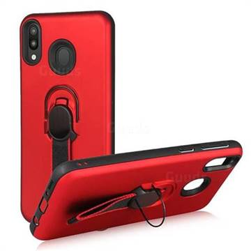 Raytheon Multi-function Ribbon Stand Back Cover for Samsung Galaxy M20 - Red