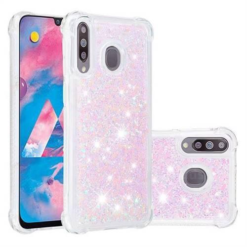 Dynamic Liquid Glitter Sand Quicksand Star TPU Case for Samsung Galaxy M30 - Pink