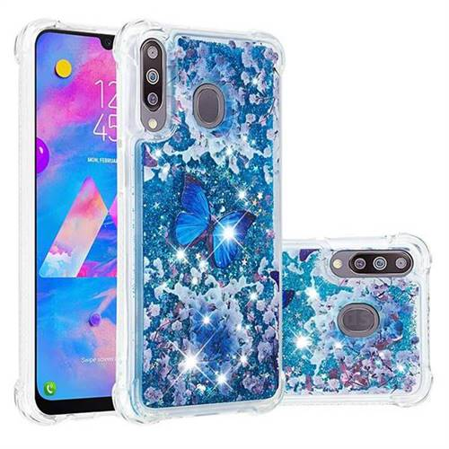 Flower Butterfly Dynamic Liquid Glitter Sand Quicksand Star TPU Case for Samsung Galaxy M30