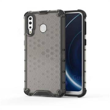 Honeycomb TPU + PC Hybrid Armor Shockproof Case Cover for Samsung Galaxy M30 - Gray