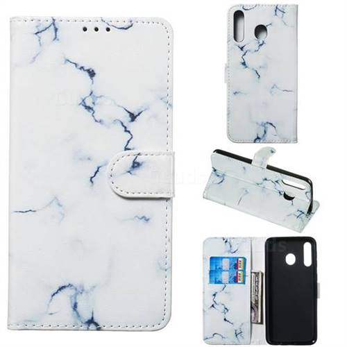 Soft White Marble PU Leather Wallet Case for Samsung Galaxy M30
