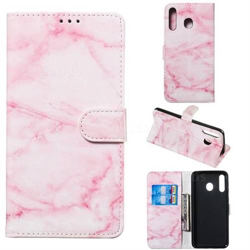 Pink Marble PU Leather Wallet Case for Samsung Galaxy M30