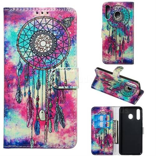 Butterfly Chimes PU Leather Wallet Case for Samsung Galaxy M30