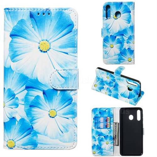 Orchid Flower PU Leather Wallet Case for Samsung Galaxy M30