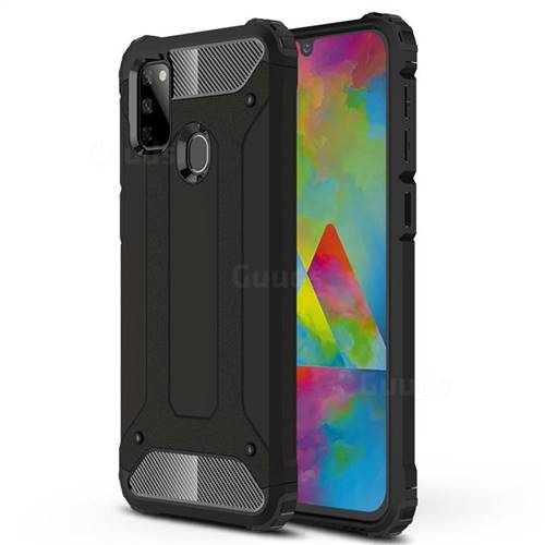 King Kong Armor Premium Shockproof Dual Layer Rugged Hard Cover for Samsung Galaxy M30s - Black Gold