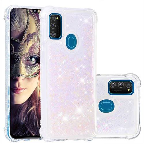 Dynamic Liquid Glitter Sand Quicksand Star TPU Case for Samsung Galaxy M30s - Pink