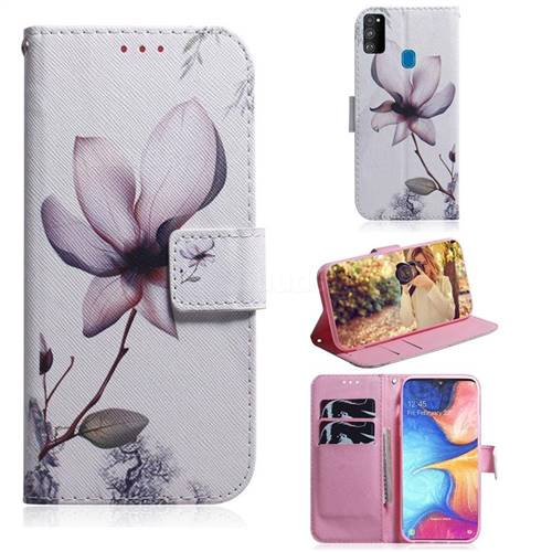 Magnolia Flower PU Leather Wallet Case for Samsung Galaxy M30s