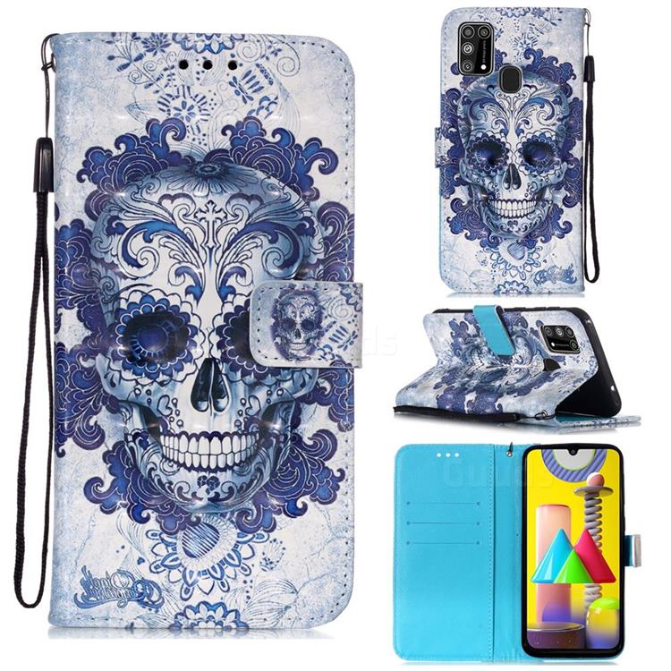 Cloud Kito 3D Painted Leather Wallet Case for Samsung Galaxy M31