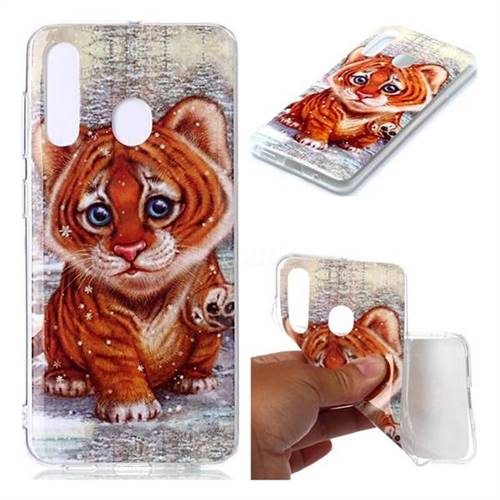 Cute Tiger Baby Soft TPU Cell Phone Back Cover for Samsung Galaxy M40