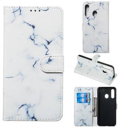 Soft White Marble PU Leather Wallet Case for Samsung Galaxy M40