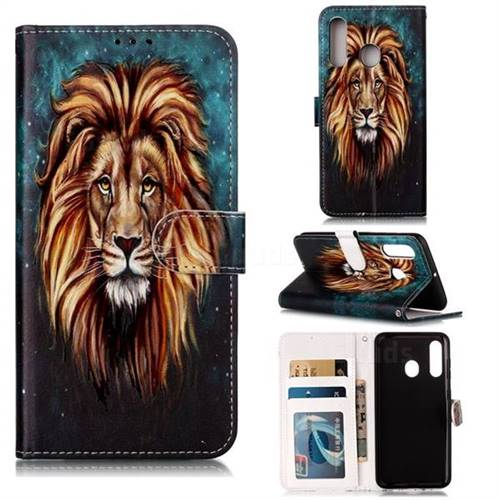 Ice Lion 3D Relief Oil PU Leather Wallet Case for Samsung Galaxy M40