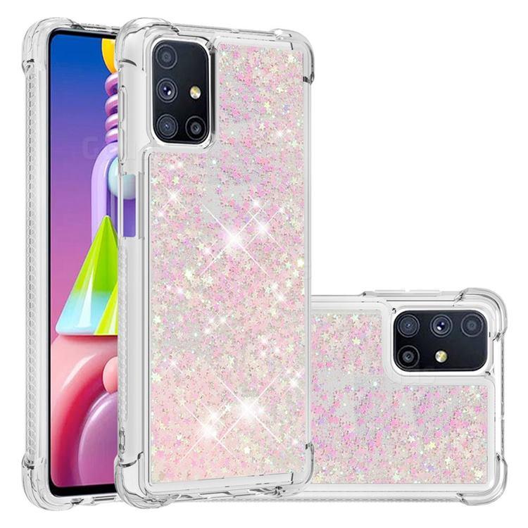 Dynamic Liquid Glitter Sand Quicksand TPU Case for Samsung Galaxy M51 - Silver Powder Star