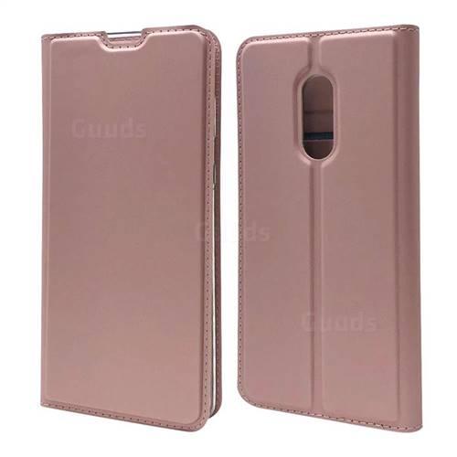 Ultra Slim Card Magnetic Automatic Suction Leather Wallet Case for Sharp AQUOS Zero2 SH-01M - Rose Gold