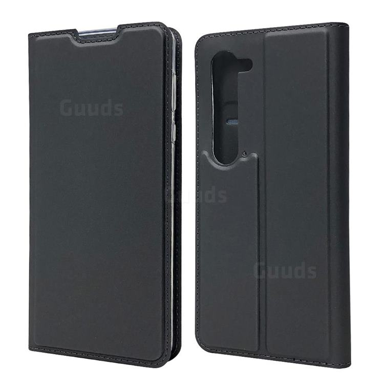 Ultra Slim Card Magnetic Automatic Suction Leather Wallet Case for Sharp AQUOS R5G - Star Grey
