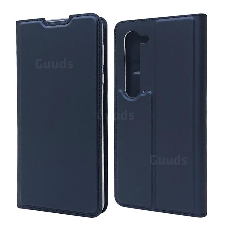 Ultra Slim Card Magnetic Automatic Suction Leather Wallet Case for Sharp AQUOS R5G - Royal Blue