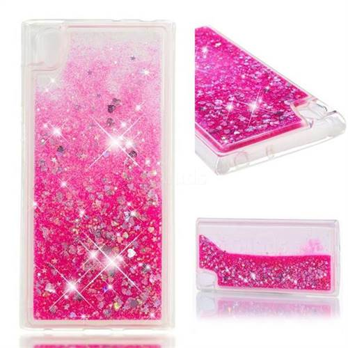 Dynamic Liquid Glitter Quicksand Sequins TPU Phone Case for Sony Xperia L1 / Sony E6 - Rose