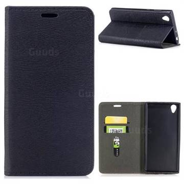 Tree Bark Pattern Automatic suction Leather Wallet Case for Sony Xperia L1 / Sony E6 - Black