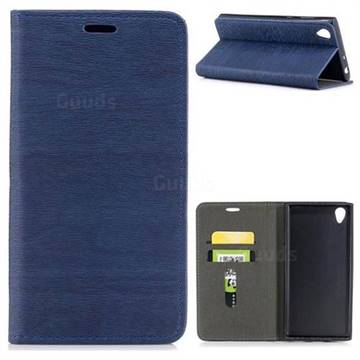 Tree Bark Pattern Automatic suction Leather Wallet Case for Sony Xperia L1 / Sony E6 - Blue