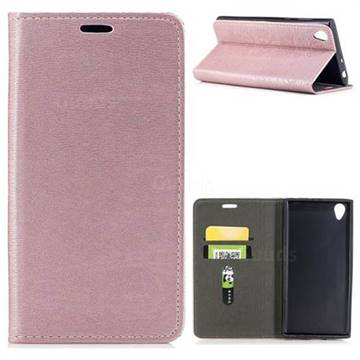 Tree Bark Pattern Automatic suction Leather Wallet Case for Sony Xperia L1 / Sony E6 - Rose Gold