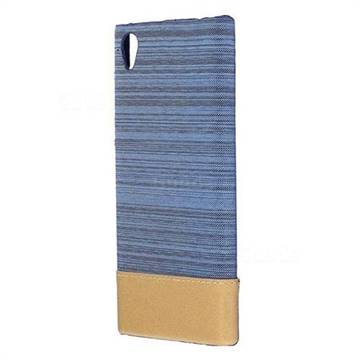 Canvas Cloth Coated Plastic Back Cover for Sony Xperia L1 / Sony E6 - Light Blue