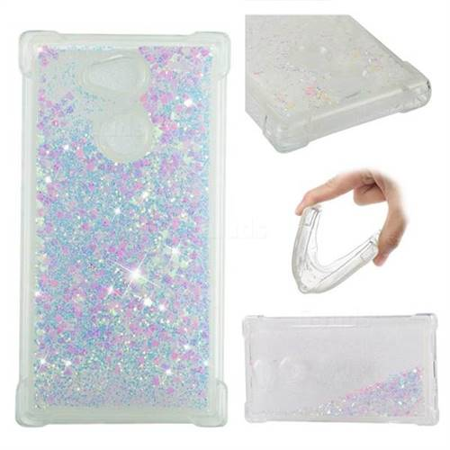 Dynamic Liquid Glitter Sand Quicksand Star TPU Case for Sony Xperia L2 - Pink