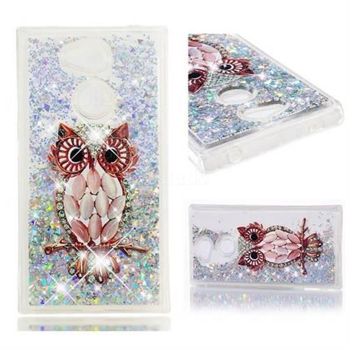 Dynamic Liquid Glitter Quicksand Soft TPU Case for Sony Xperia L2 - Seashell Owl