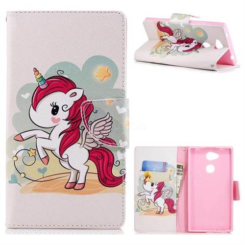 Cloud Star Unicorn Leather Wallet Case for Sony Xperia L2 ...