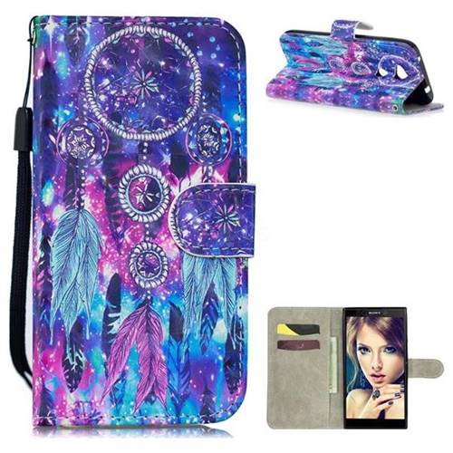 Star Wind Chimes 3D Painted Leather Wallet Phone Case for Sony Xperia L2