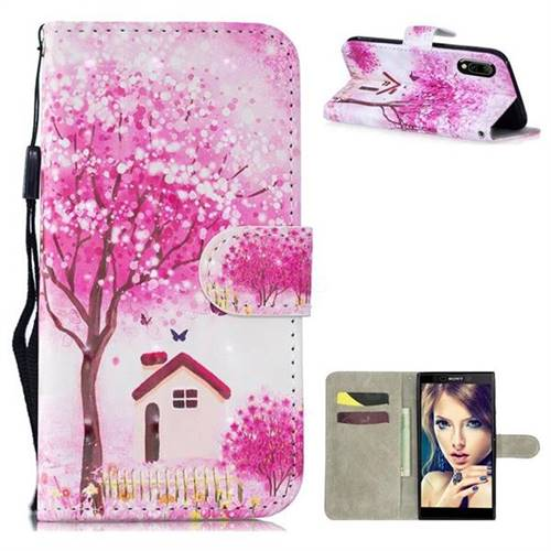 Tree House 3D Painted Leather Wallet Phone Case for Sony Xperia L3