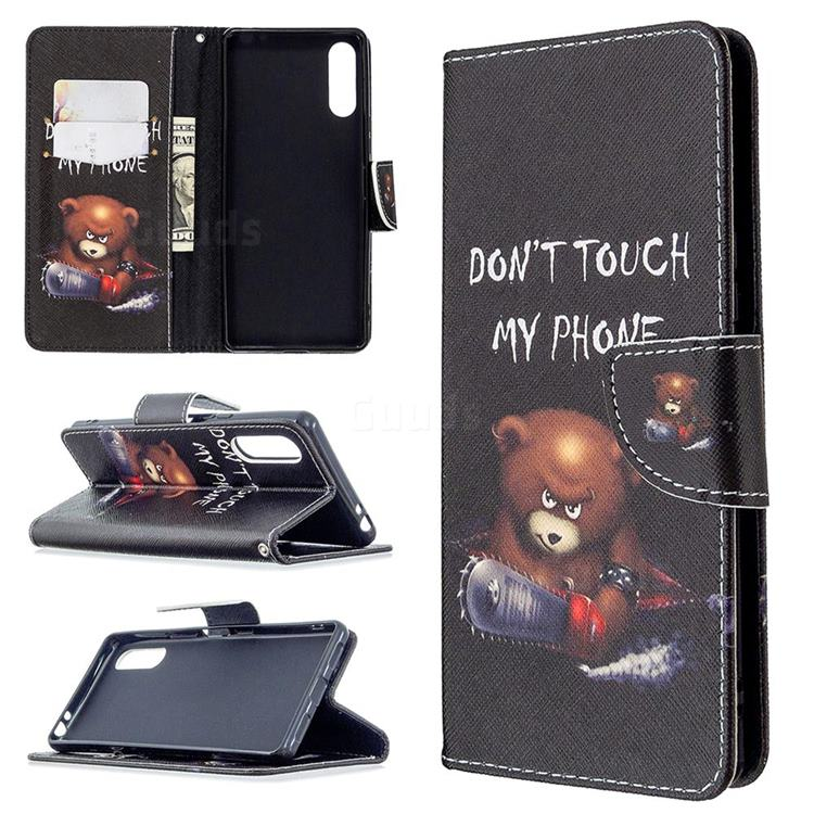 Chainsaw Bear Leather Wallet Case for Sony Xperia L4