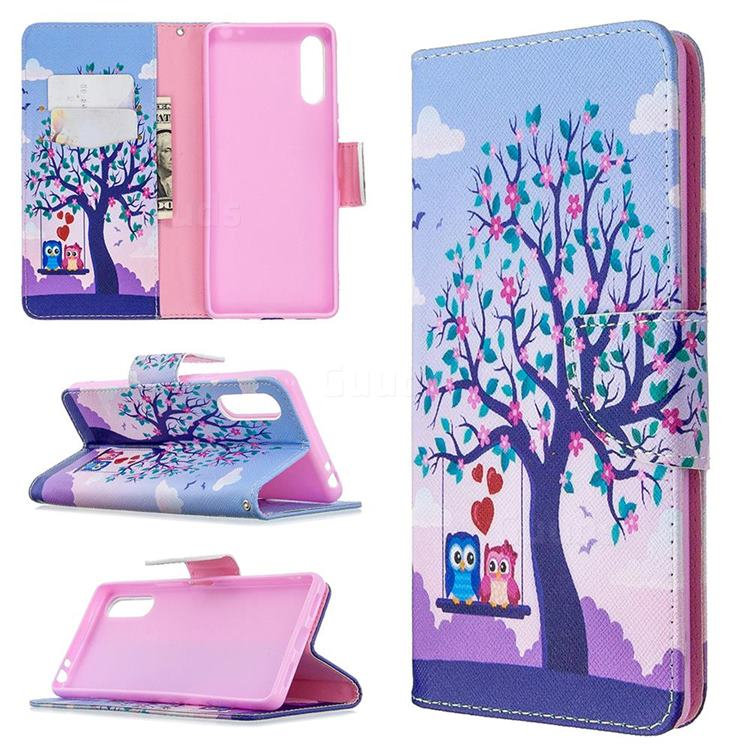 Tree and Owls Leather Wallet Case for Sony Xperia L4