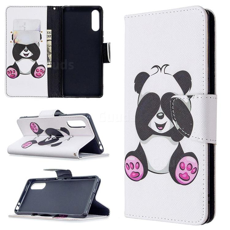 Lovely Panda Leather Wallet Case for Sony Xperia L4