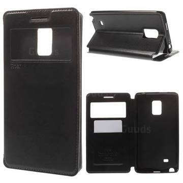 Roar Korea Noble View Leather Flip Cover for Samsung Galaxy Note Edge N915V N915A - Black